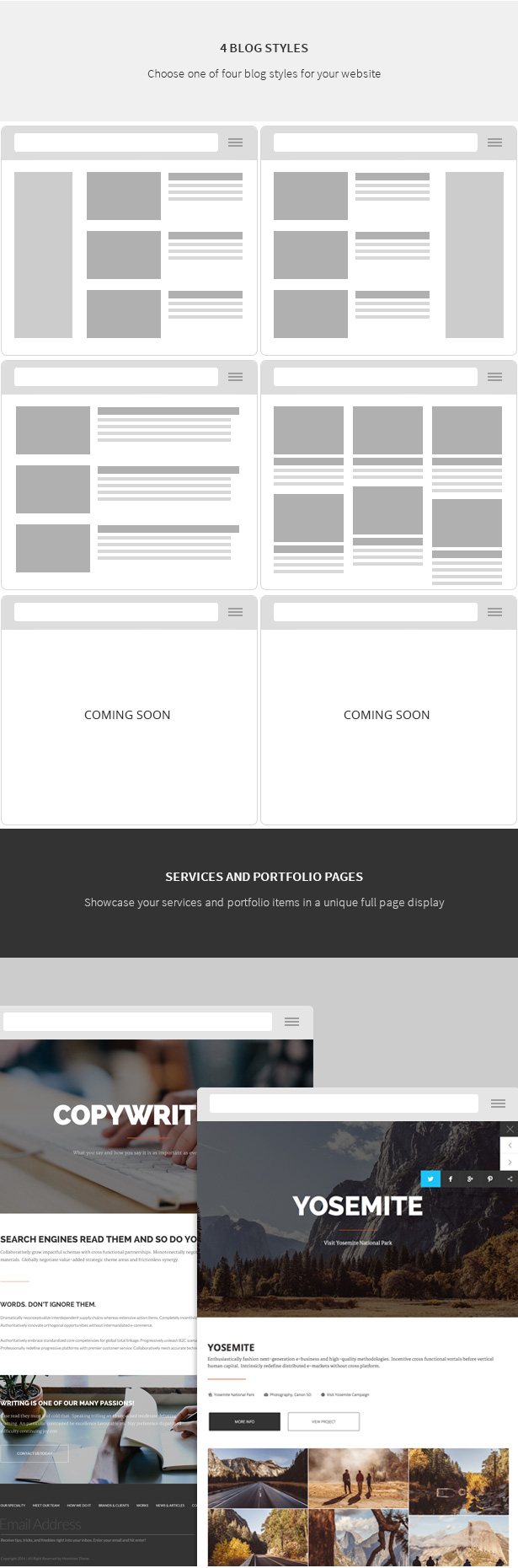 Salem - Clean and Bold One Page WordPress Theme